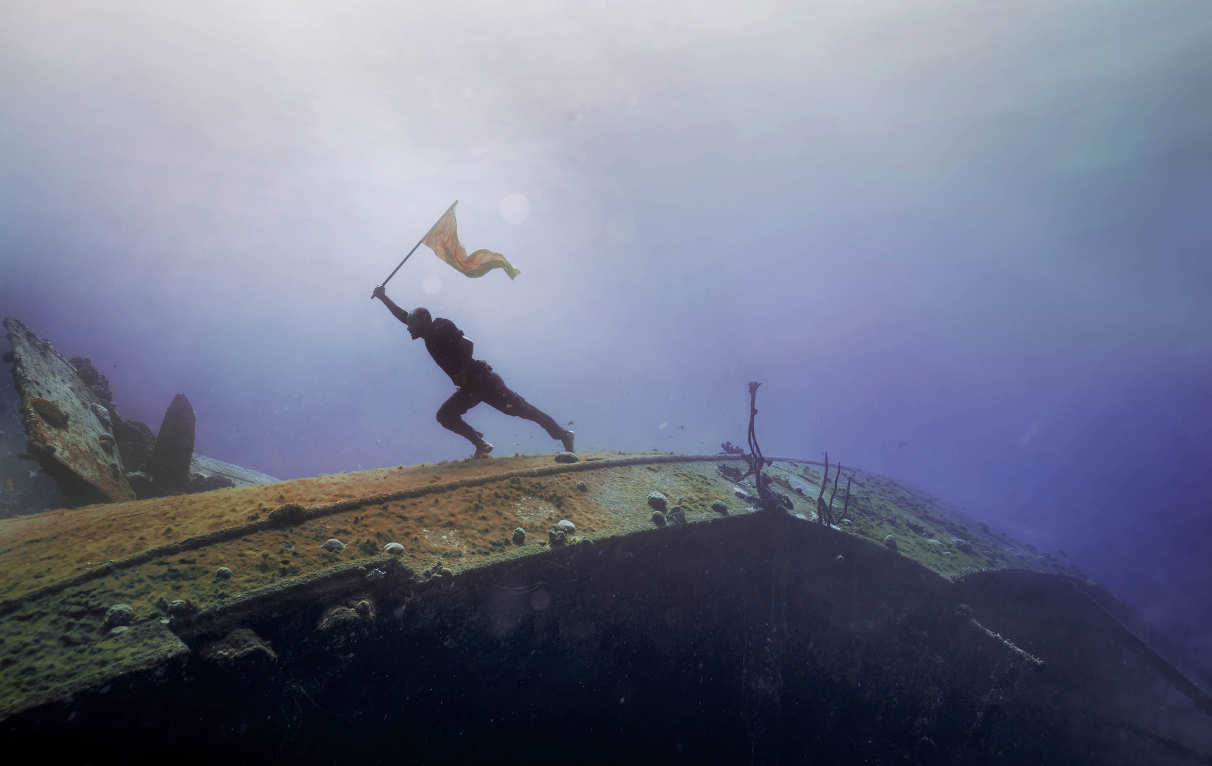 onderwater fotoshoot freediver