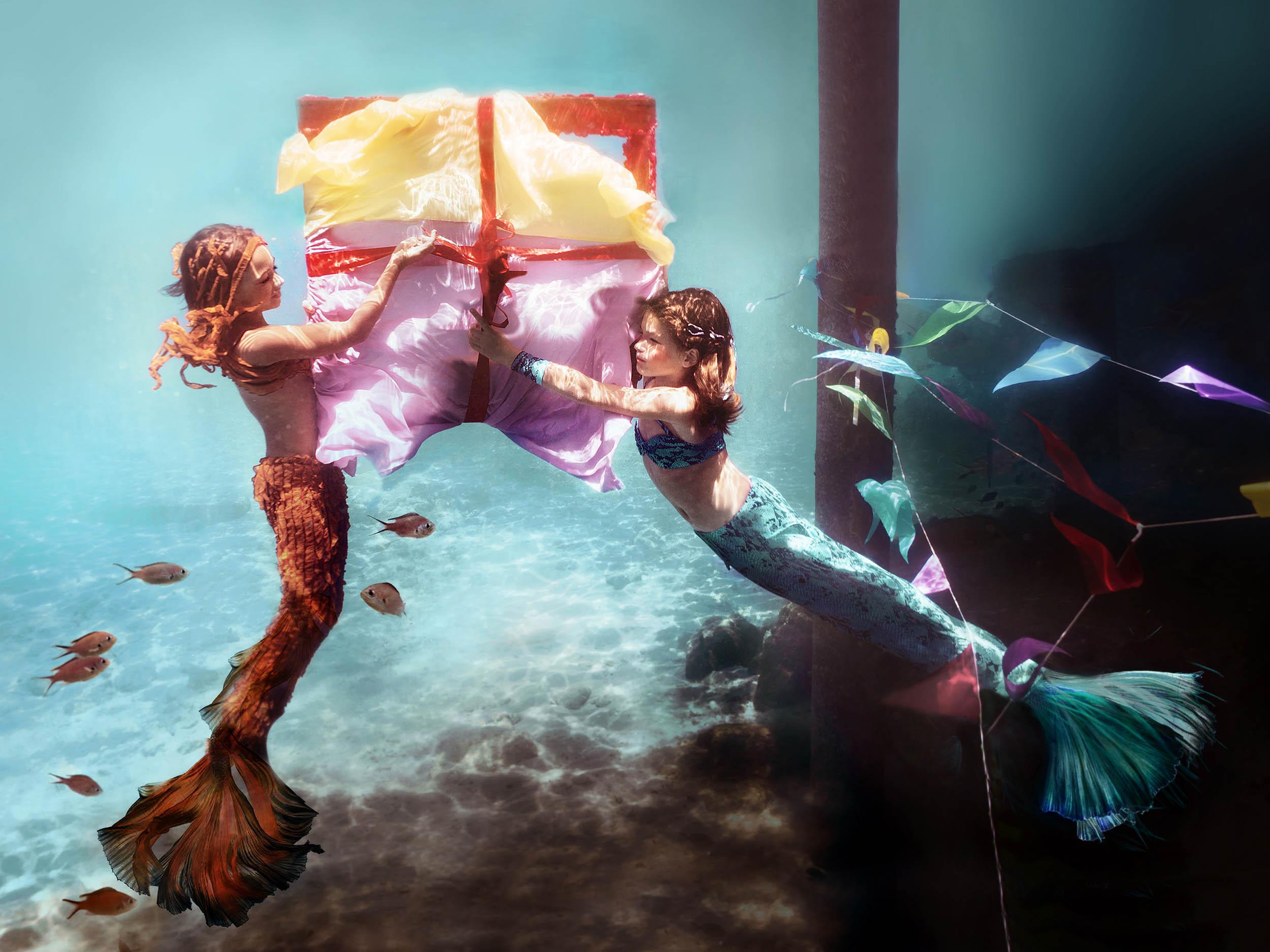 zeemeerminnen kinderen fotoshoot