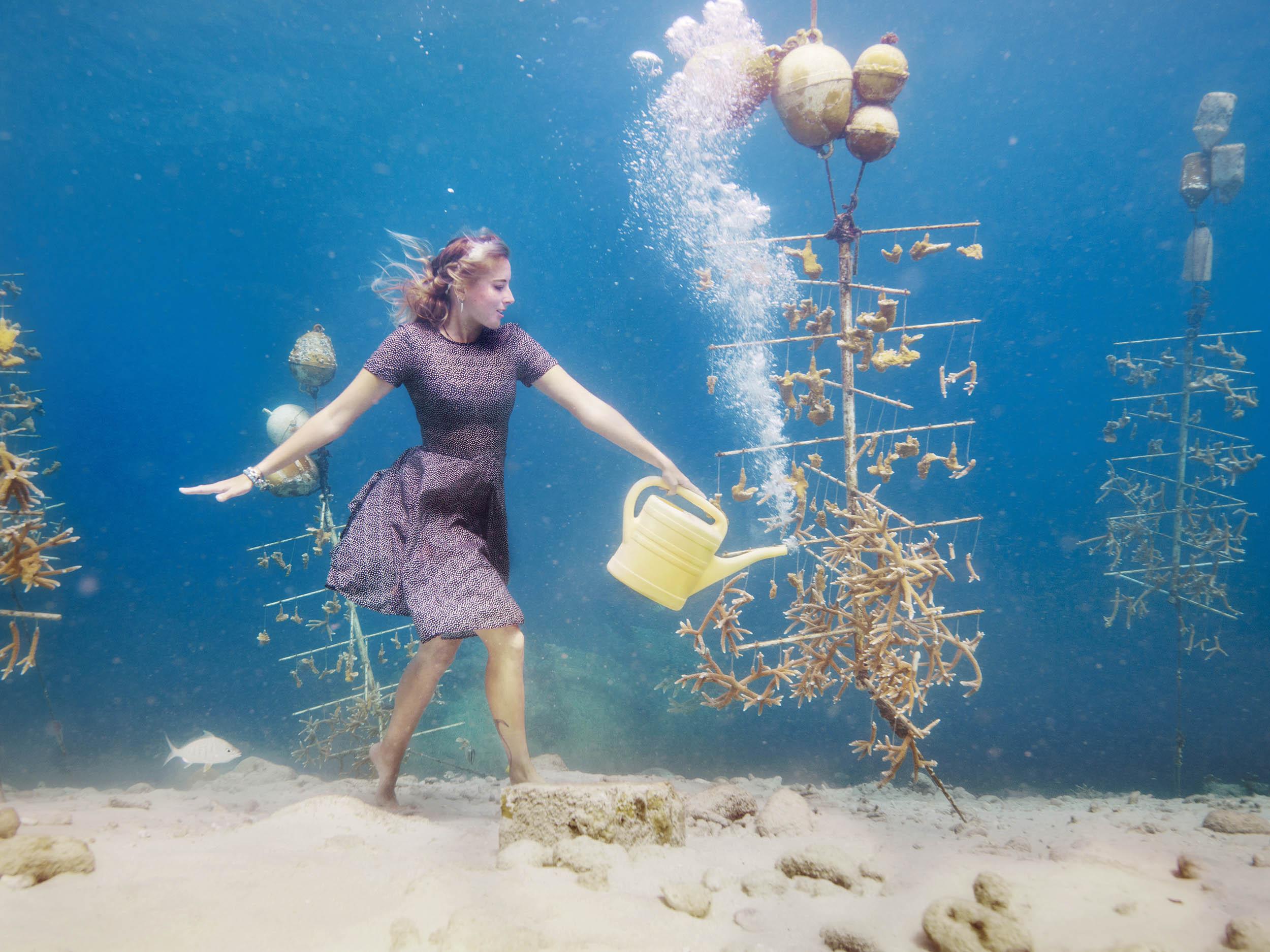 onderwater fotoshoot koraal tuin