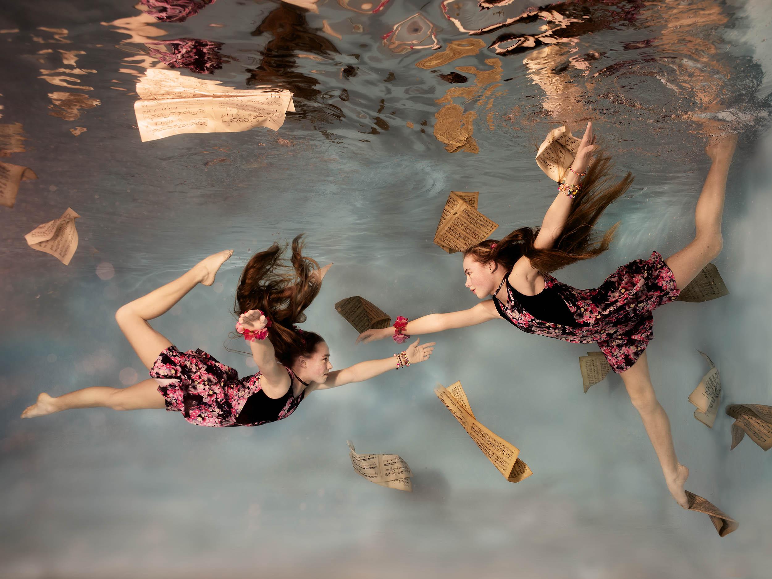 onderwater foto kinderen