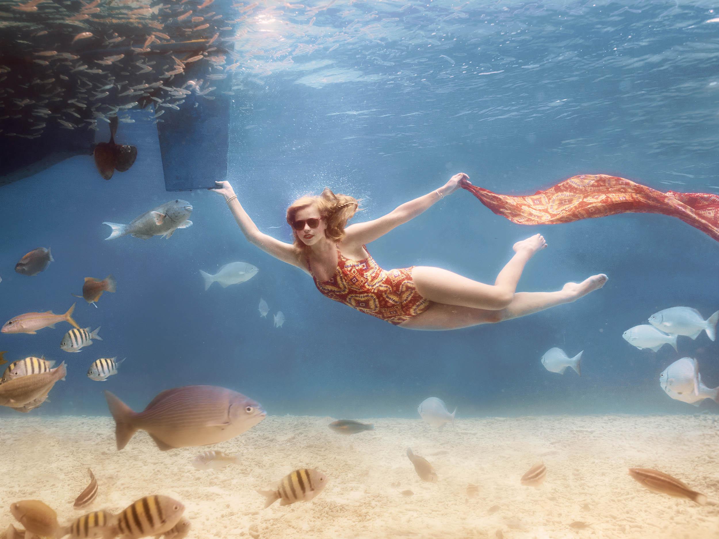 badkleding onderwater fotoshoot