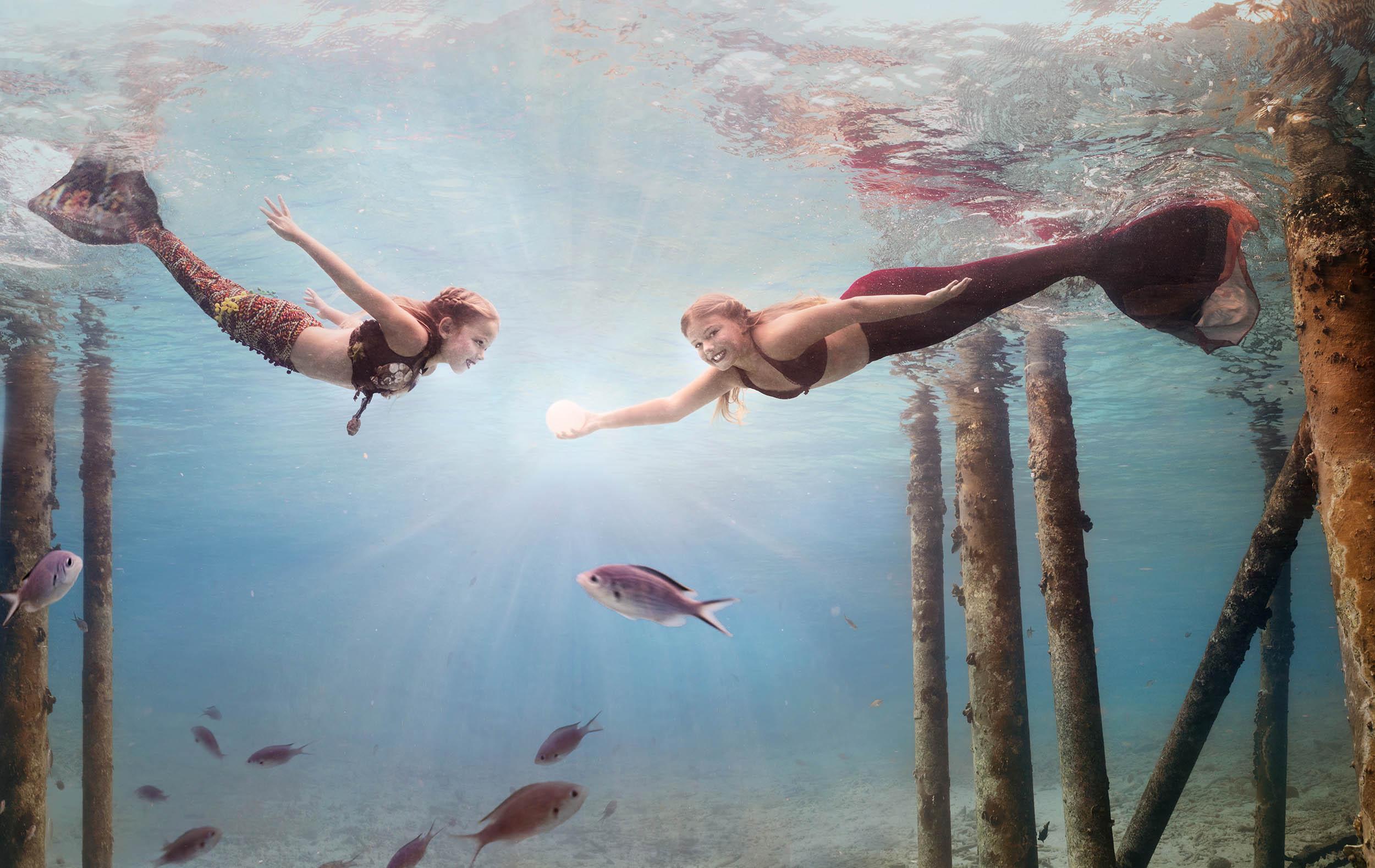 bonaire zeemeermin onderwater